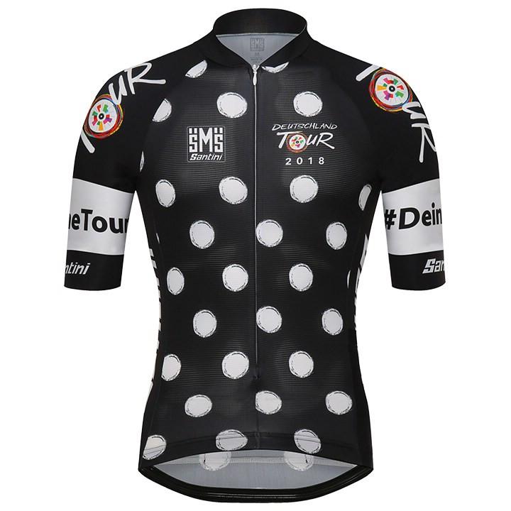 DEUTSCHLAND TOUR 2018 fietsshirt Bolletjestrui fietsshirt met korte mouwen, voor