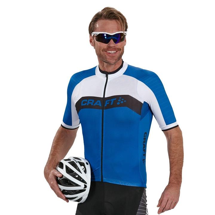 CRAFT shirt met korte mouwen Gran Fondo blauw-wit fietsshirt met korte mouwen,