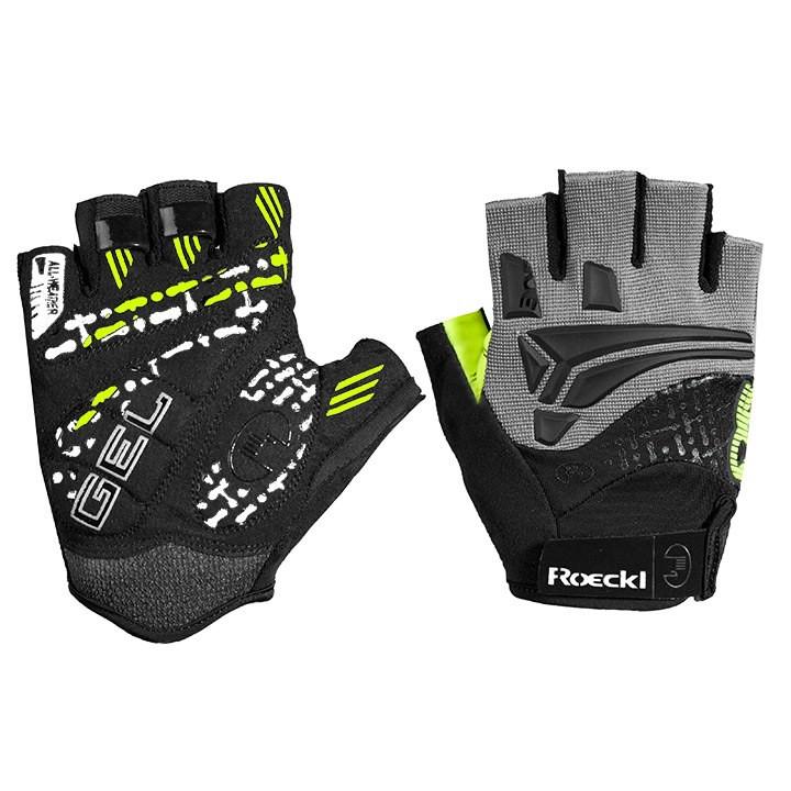 ROECKL MTB-Inobe, zwart-geel handschoenen, voor heren, Maat 10,5,