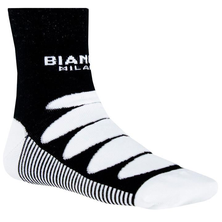 BIANCHI MILANO Legnano zwart-wit fietssokken, voor heren, Maat 2XL,