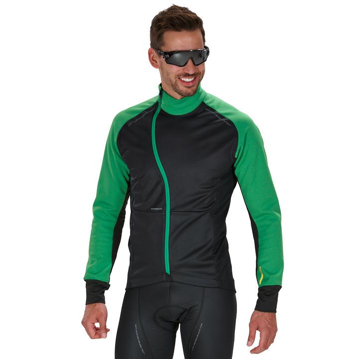 MAVIC winterjack Cosmic Pro zwart-groen Thermojack, voor heren, Maat 2XL, Fietsj