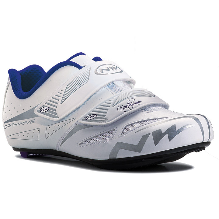 NORTHWAVE Eclipse Evo wit-grijs dames raceschoenen, Maat 42, Racefiets schoenen,