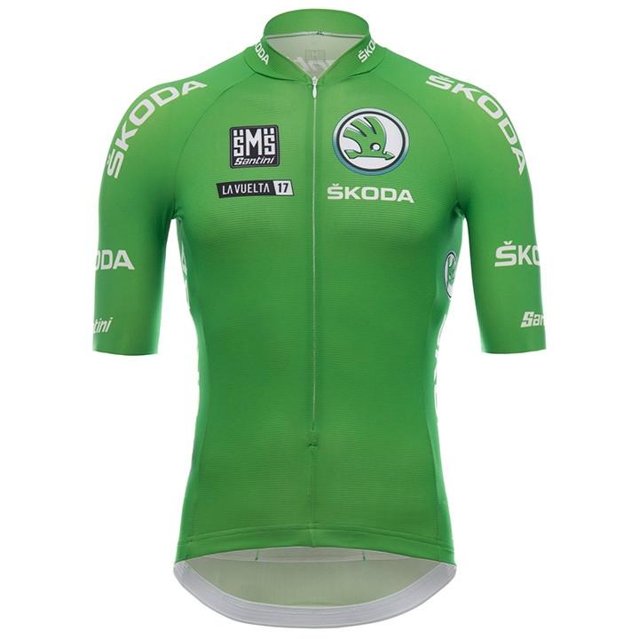 LA VUELTA Maillot Verde 2018 fietsshirt met korte mouwen, voor heren, Maat XL,