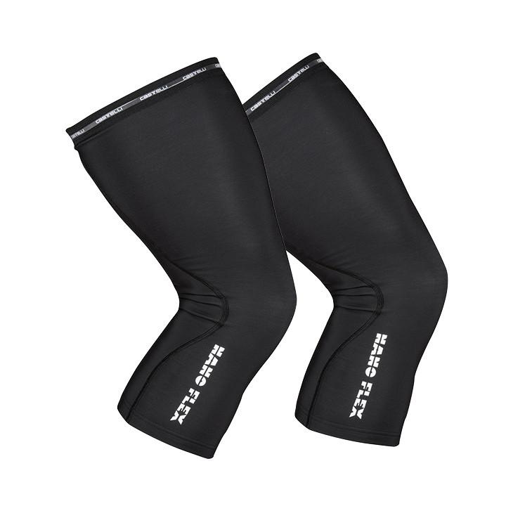 CASTELLI Nano Flex+ zwart kniestukken, voor heren, Maat M, Kniewarmer, Fietskled