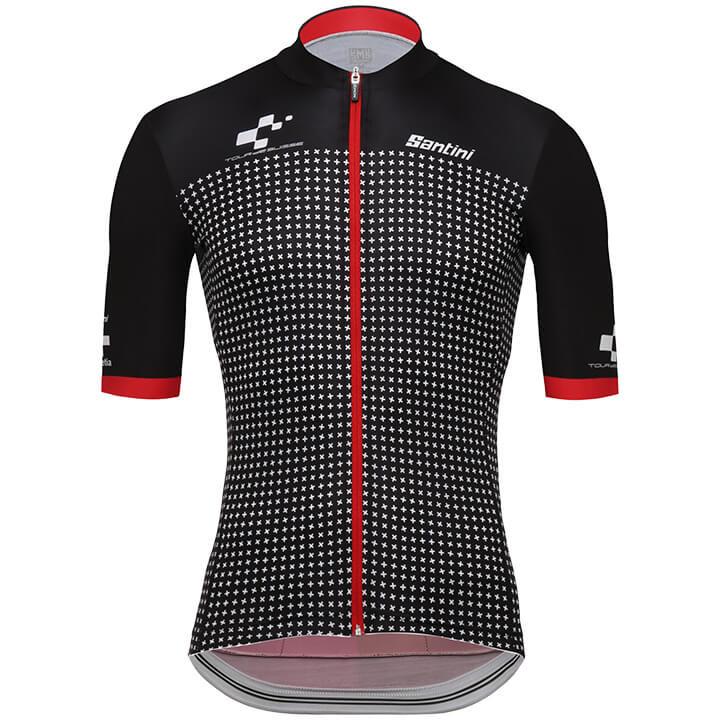 Tour de Suisse Helvetia 2018 fietsshirt met korte mouwen fietsshirt met korte mo