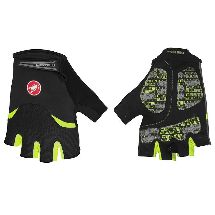 CASTELLI Arenberg Gel zwart-neon geel handschoenen, voor heren, Maat S, Fietshan
