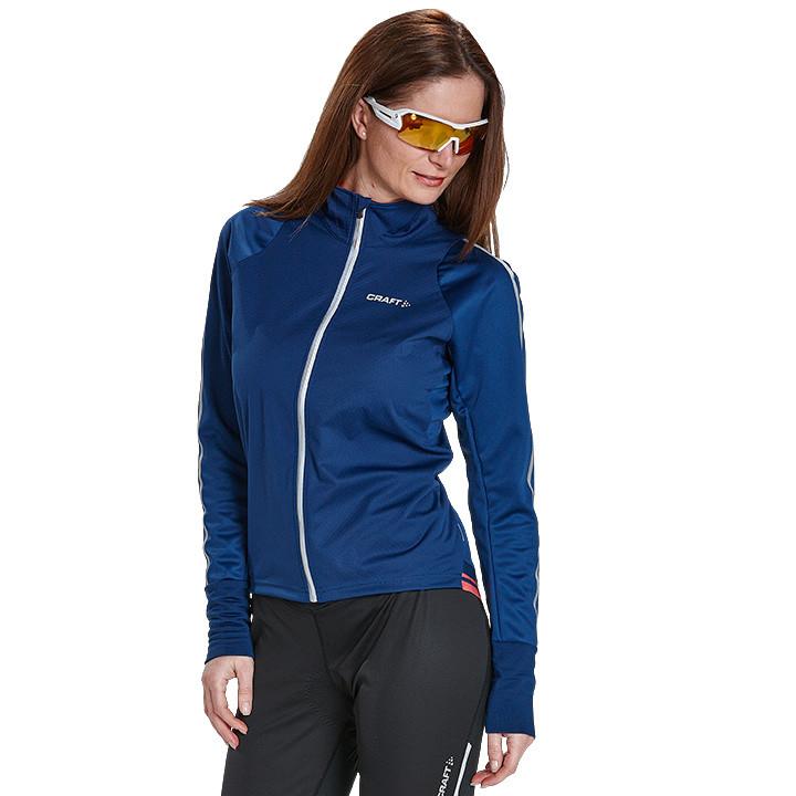 CRAFT dames fietsjack Belle blauw damesfietsjack, Maat L, Fietsjas, Fietskleding