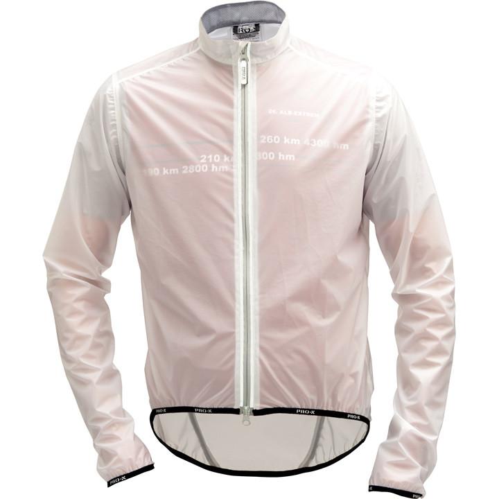 PRO-X Trient, transparant regenjack, voor heren, Maat XL, Regenjas, Regenkleding