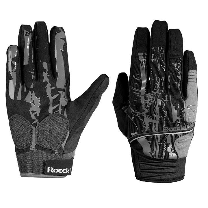 ROECKL langevingerhandschoenen Minaya zwart-grijs handschoenen met lange vingers