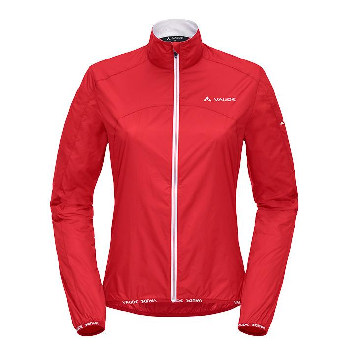 VAUDE Air II, rood dameswindjack, Maat 36, Fiets jas, Fietskledij