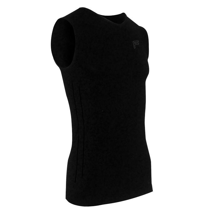 F-LITE mouwloos Ultralight 70 zwart onderhemd, voor heren, Maat XL, Onderhemd, F