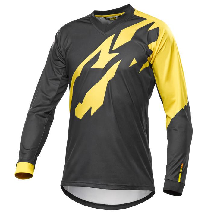 MAVIC MTB-shirt met lange mouwen Crossmax Pro zwart-geel fietsshirt met lange mo