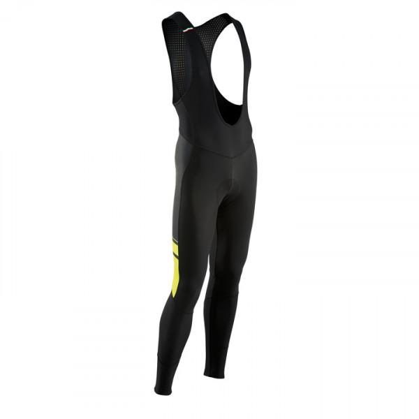 Culotte largo con tirantes Dynamic Colorway negro-amarillo neón