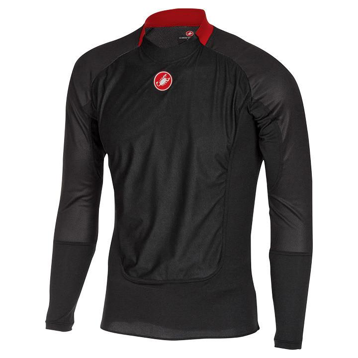 CASTELLI fietsmet lange mouwen Prosecco Wind zwart onderhemd, voor heren, Maat S