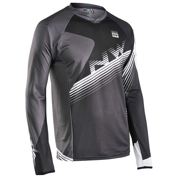 NORTHWAVE met lange mouwen Drop bikeshirt, voor heren, Maat 2XL, Wielershirt,