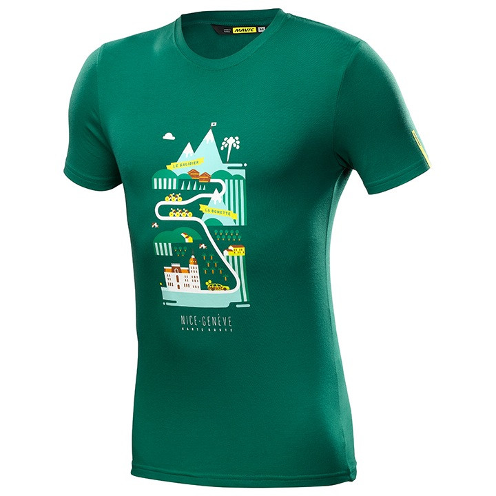 MAVIC T-shirt Haute Route t-shirt, voor heren, Maat M, MTB shirt, Mountainbike