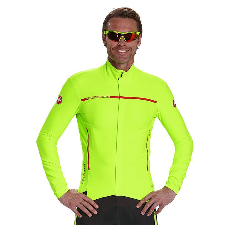 CASTELLI Perfetto neongeel Light Jacket, voor heren, Maat M, Fietsjas, Fietskled