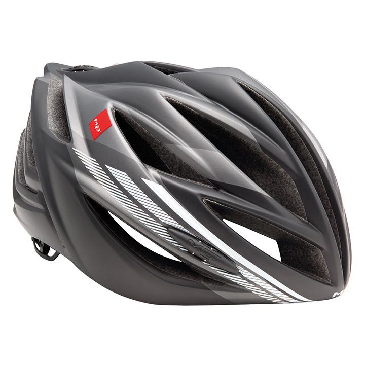 MET raceForte 2017 fietshelm, Unisex (dames / heren), Maat L, Fietshelm, Fietsac