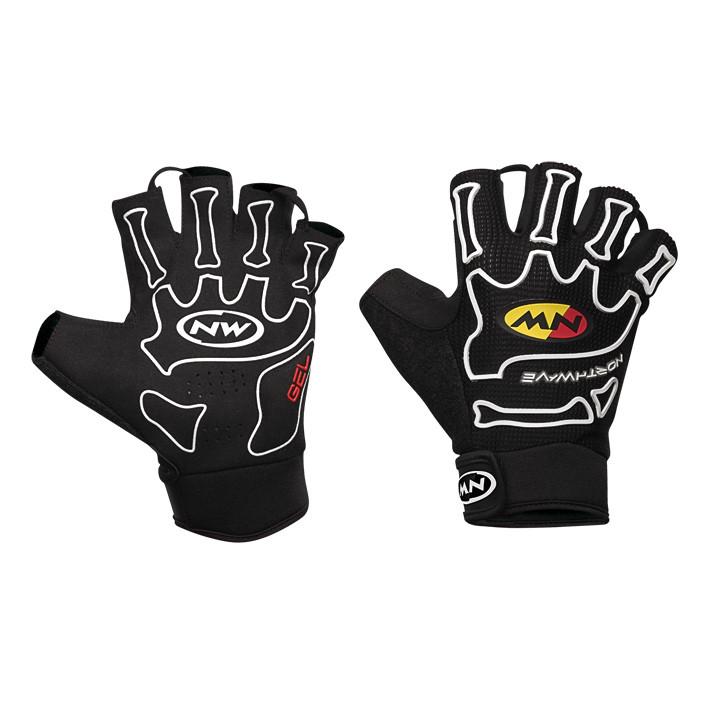 NORTHWAVE fietsSkeleton light, zwart-wit handschoenen, voor heren, Maat 2XL,