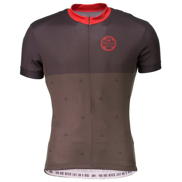 MALOJA shirt met korte mouwen PushbikersM. fietsshirt met korte mouwen, voor