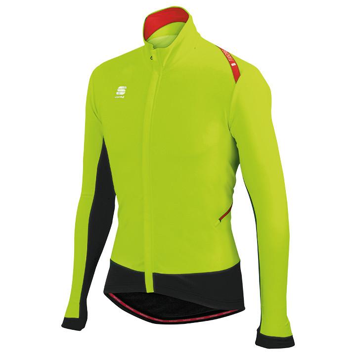 SPORTFUL Fiandre Wind neon geel-zwart Light Jacket, voor heren, Maat L, Fiets ja